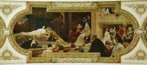 Das Theater Shakespeares - Deckengemälde im Burgtheater 1886